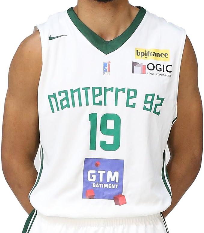 Nike Nanterre 92 Réplica Domicile 2017 2018 Maillot de Basketball Homme