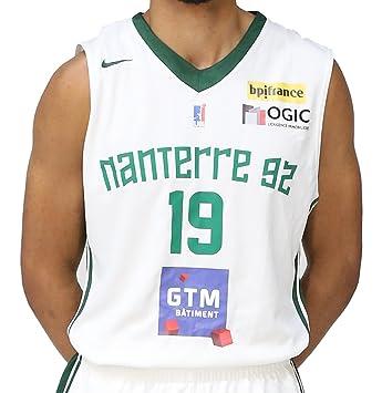 De 2017 Basketball 2018 Nike Maillot HommeBlancvertFrStaille Nanterre S Basket Domicile Fabricant 92 Réplica vfgbyY76