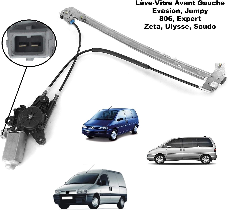 APDISTRIBUTION Mecanisme de Leve Vitre Electrique avec Moteur Avant Gauche Chauffeur Conducteur pour 806 Expert Jumpy Zeta Scudo 1484122080