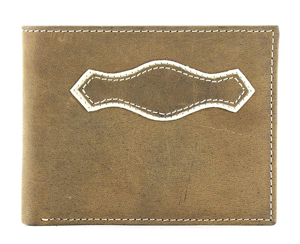 Lucky Trails Mens Distressed BrownLeather Bifold Wallet