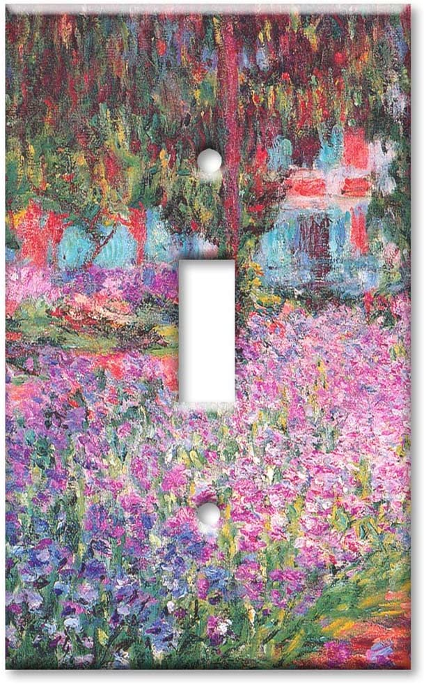 Single Gang Toggle Wall Plate - Monet: The Artist's Garden