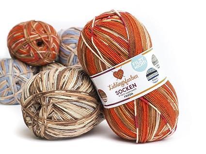 Lana para tejer calcetines, de tu color favorito, ovillo de 100 g y 420 m