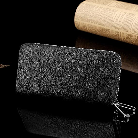 Fashion Long Wallet Double Zippered Printed Purse for Women ...