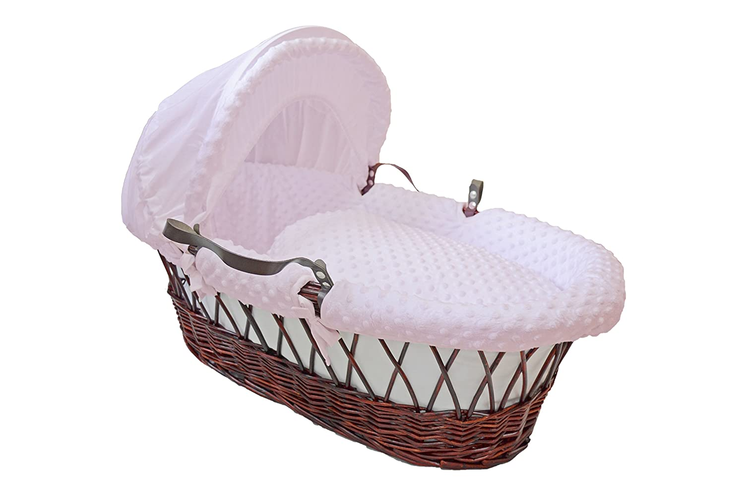 Cuddles Collection Pink Dimple Moses Basket Dressings Only CCU11172