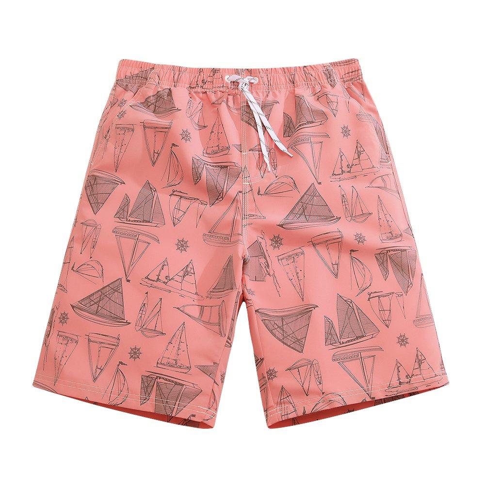 Sulang メンズ スリムフィット 超速乾 水泳パンツ ボードショーツ (メッシュ裏地なし) B0747WQT1H L|Sailboard Sailboard L