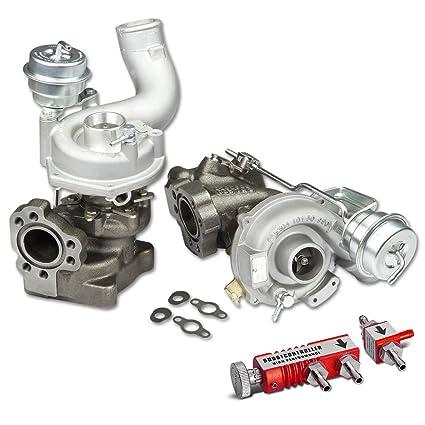 Amazon.com: For Audi B5 C5 K04 Upgrade Twin/Bi-Turbo Turbocharger w/Wastegate Turbine Trim 81 + 30 psi Boost Controller (Red): Automotive