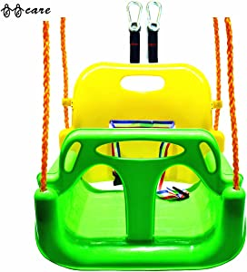 BBCare 3-in-1 Child to Teenager Secure Swing with Snap Hooks and Hanger Belts (Green)