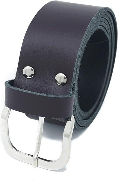 Gürtel Leder Braun 4cm breit Herren Damen Ledergürtel 100/% Leder Kürzbar NEU