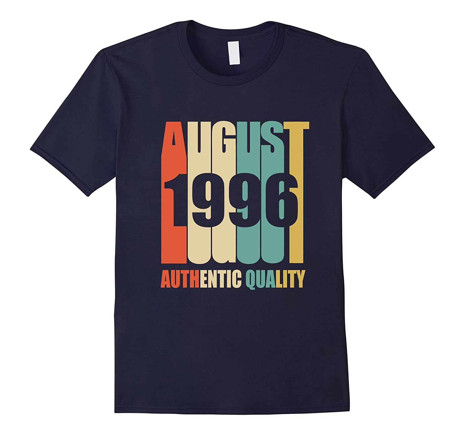 Retro August 1996 T-Shirt 21 yrs old Bday 21st Birthday Tee-BN