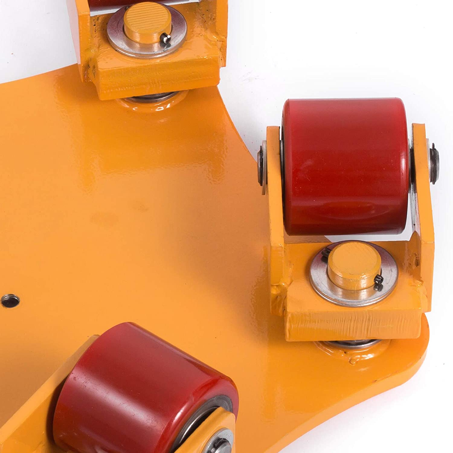 OrangeA Industrial Machinery Mover 13200-lb Machinery Skate w// Steel Rollers Cap 360 Degree Rotation