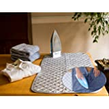"""Instant Ironing Board for Small Space Living! 33 x 19"""" Quilted Magnetic Ironing Mat Transforms Any Metallic Surface into an Ironing Board. Use on Top of Washer/Dryer or Any Flat Space!"""