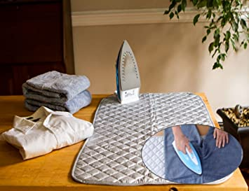 Amazon.com: Instant Ironing Board for Small Space Living! 33 x 19 ... : quilted ironing mat - Adamdwight.com