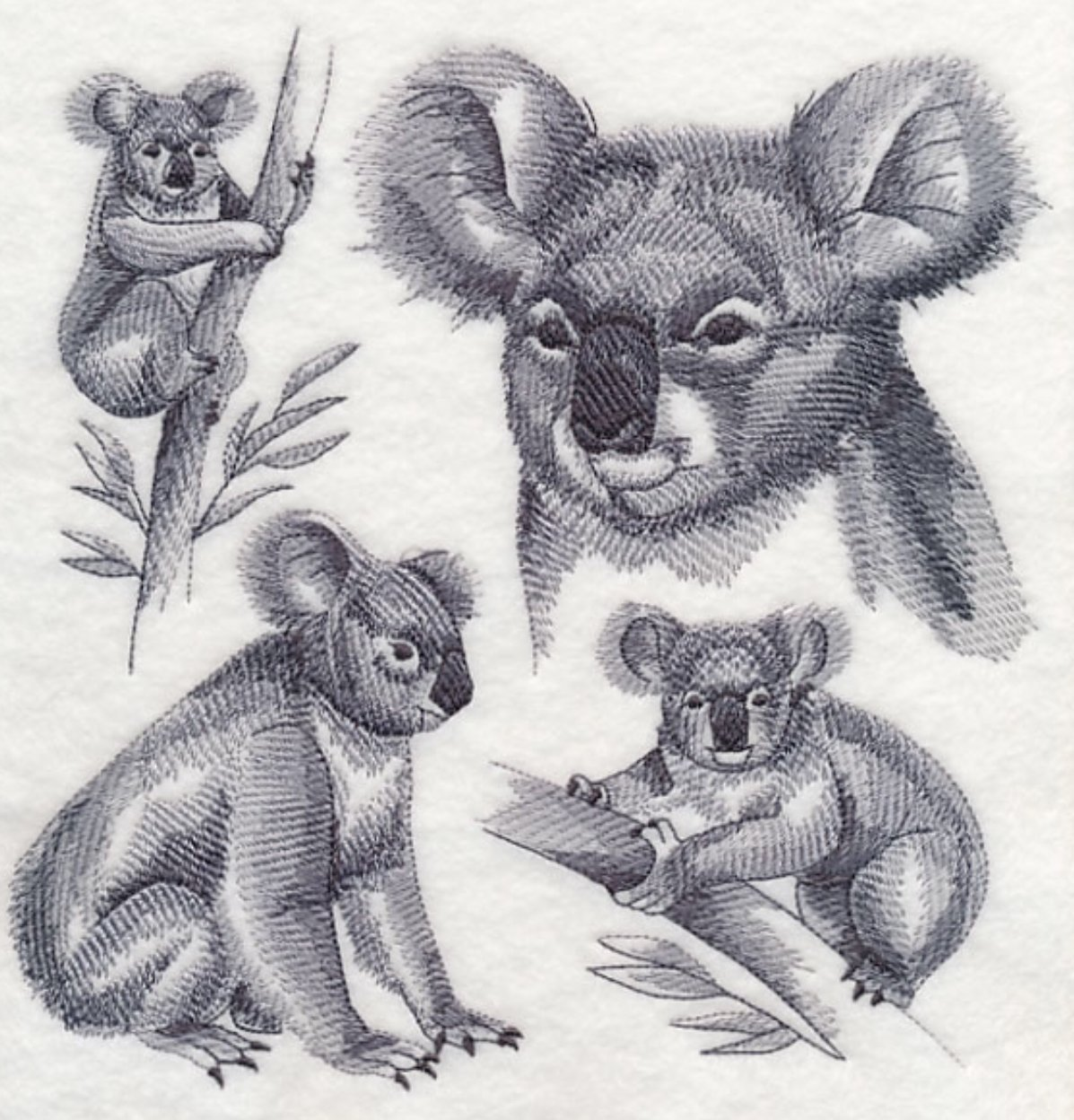 Koala Bear Custom Embroidered Sweatshirt Shirt