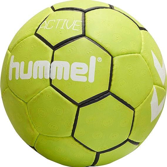 hummel Active 205066 - Balón de Balonmano, Color Black/Sulphur ...