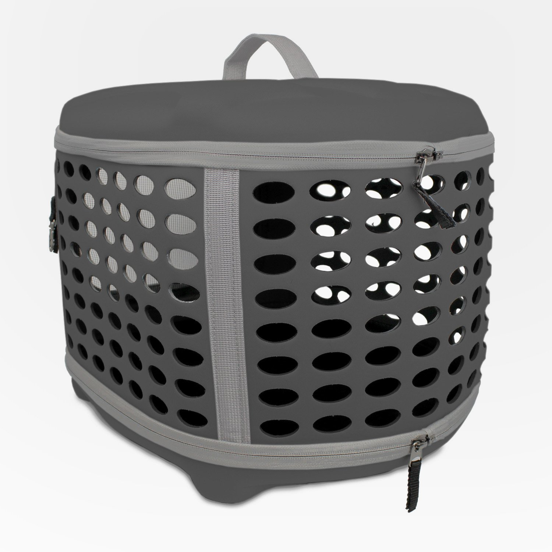 Yatek Transportin Plegable Perros y Gatos Lavable Recomendado para Mascotas de hasta 6kg de Color Gris Oscuro: Amazon.es: Productos para mascotas