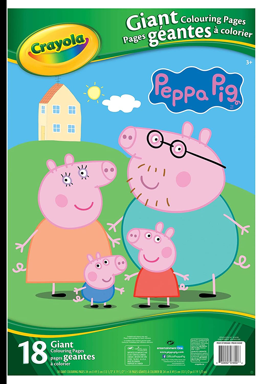 Crayola Peppa Pig Giant Colouring Pages, Drawing & Sketch Pads ...