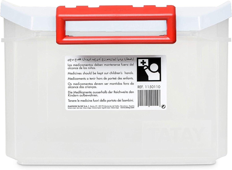 Blanco 14 Litros Tatay 1150110 Caja Botiqu/ín Grande Primeros Auxilios Con Tapa