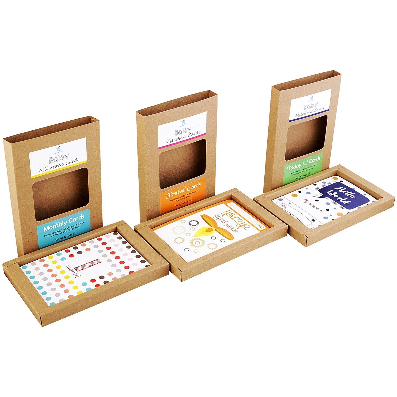 Wonderhood Baby Milestone Cards Gift Set- Pack of 35 (Set of