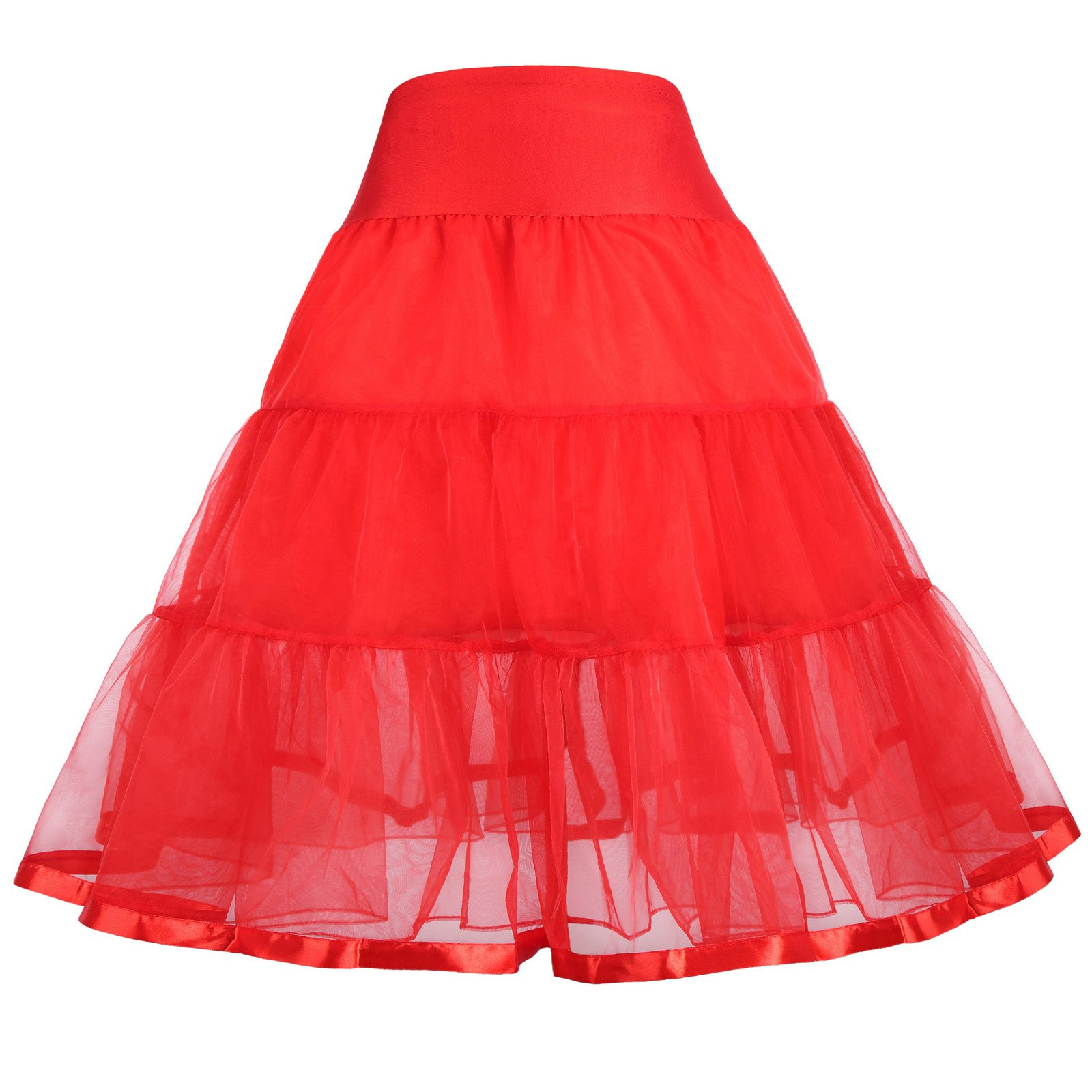 GRACE KARIN Baby Girls Solid Dance Swing Tutu Petticoat 1-3 yrs 460-3 by GRACE KARIN
