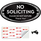 SignSeries No Soliciting Sign - No Knock, Door Sign - 3' x 6' - Mounting Hardware Included, Easy Installation on Wall…