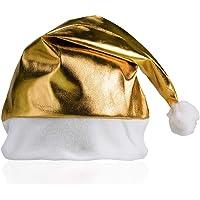 MIRVEN Lote de 12 Gorros de Navidad Metalizados