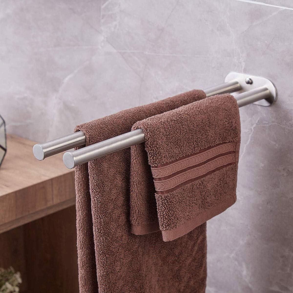 Dalmo DBTH02SR 45cm Zweiarmig Handtuchstange Bad Wandmontage Doppelt Edelstahl Geb/ürstet Handtuchhalter