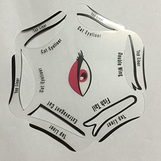 Eyeliners Stencil - Winged Eyeliner Stencil - 1Pc 6 in 1 Eyeliner Stencil  Makeup Guide Quick