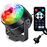 Disco Ball Party Lights iThird Sound Activated 7 Modes DJ Lighting Stage Lighting RGB LED Strobe Lamp with IR Remote AU…