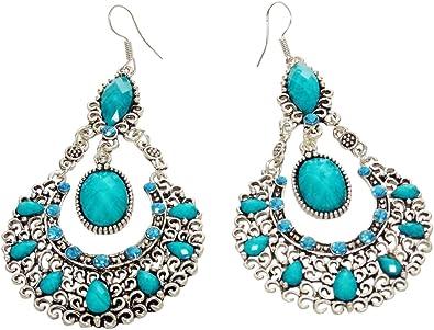 Lovely blue turquoise single earring
