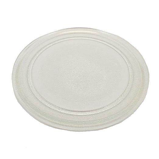 Plato de cristal de 24 cm para microondas Sanyo EM-S105, Cookworks ...