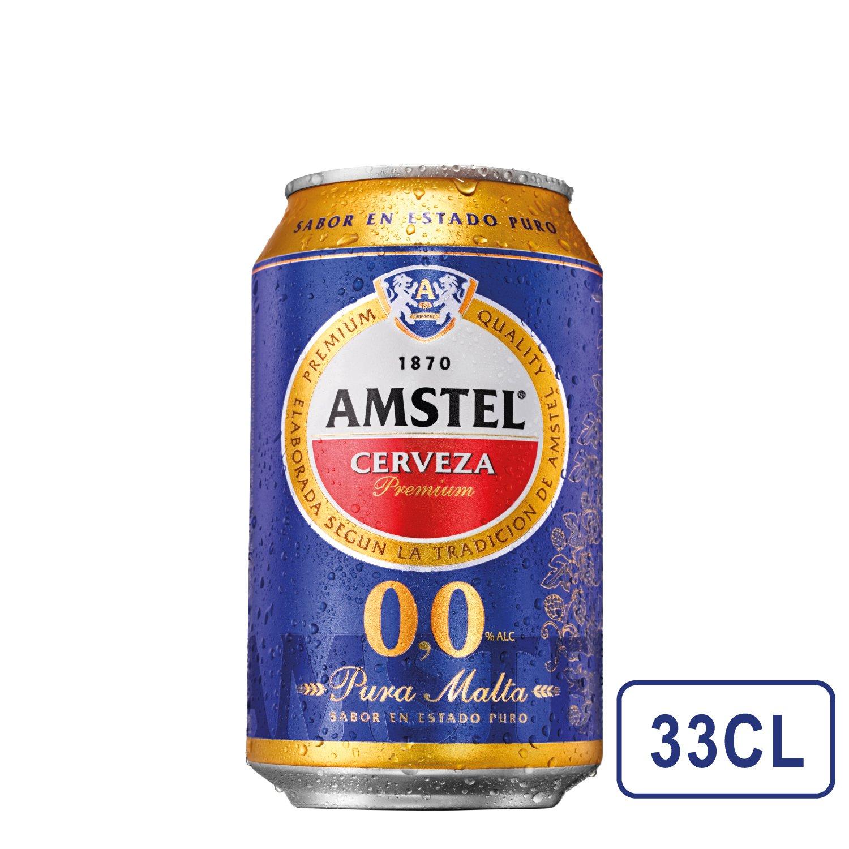 Amstel 00 Cerveza Lata - 330 ml