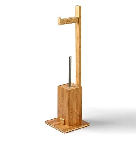 Hervorragend MSV 140632 WC Garnitur aus Bambus Toilettenpapierhalter aus Holz UN44
