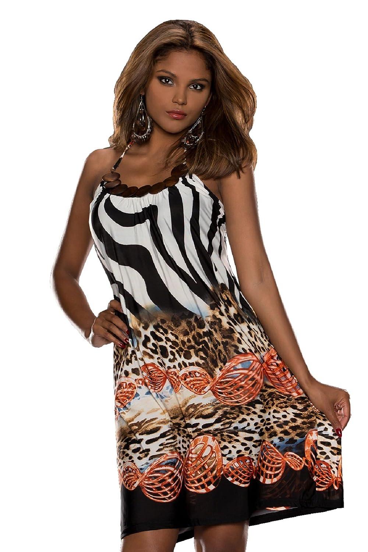 COSMODA Neckholder Mini Sommerkleid Strandkleid