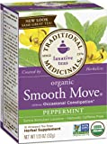 Traditional Medicinals Organic Smooth Move, Peppermint, 16-Count Boxes (Pack of 6)