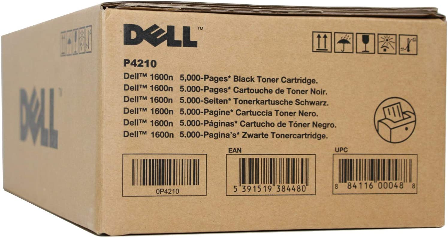 Dell P4210 1600N Laser Toner Cartridge (Black) in Retail Packaging