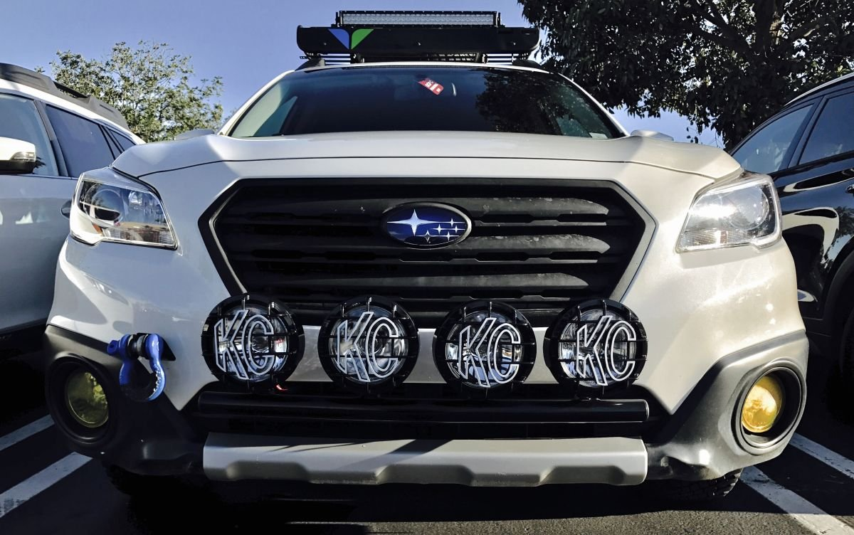 Fits 2017 Subaru Outback  Rally Light Bar (Bull Bar, Nudge Bar), 4 Light  Tabs, Powder Coated from SSD Performance