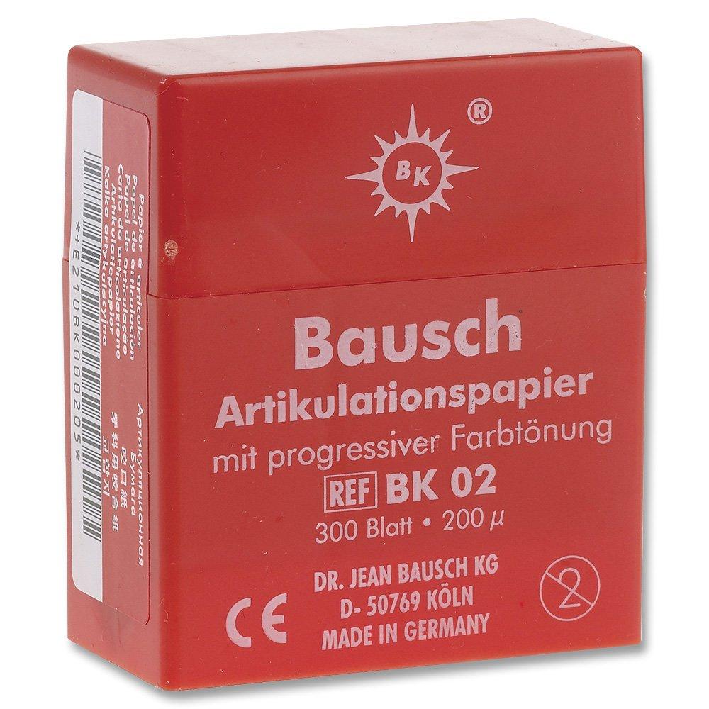 Bausch Articulating Paper 200u (.008'') Red w/ dispenser BK-02 (300) by Bausch