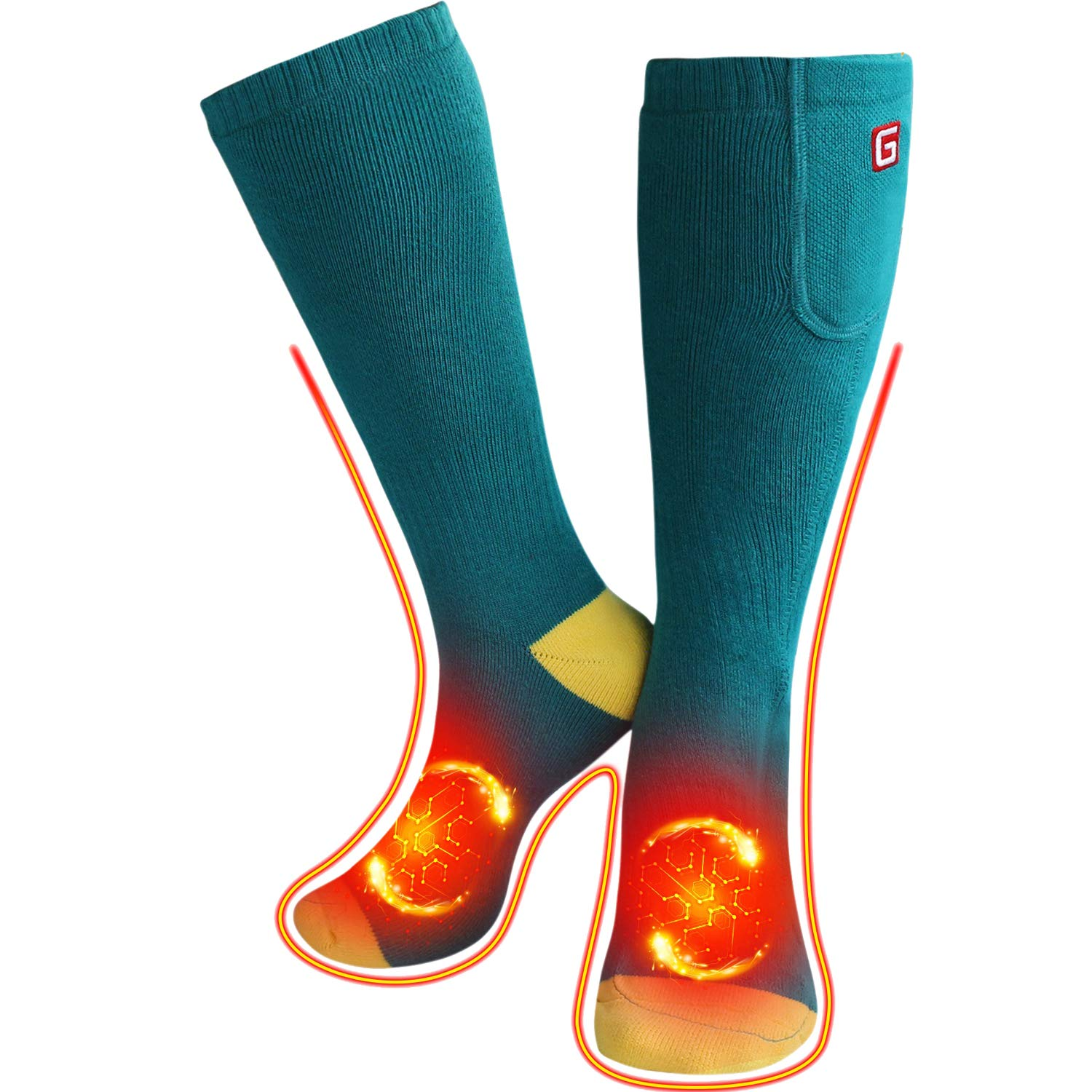 QILOVE Electric Heated Socks,Foot Warmer with Rechargeable Batteries for Hiking Motorcycling Skiing by QILOVE