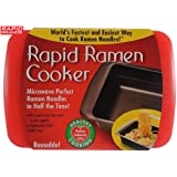 Rapid Ramen Cooker - Microwave Ramen in 3 Minutes - BPA Free and Dishwasher Safe - Red