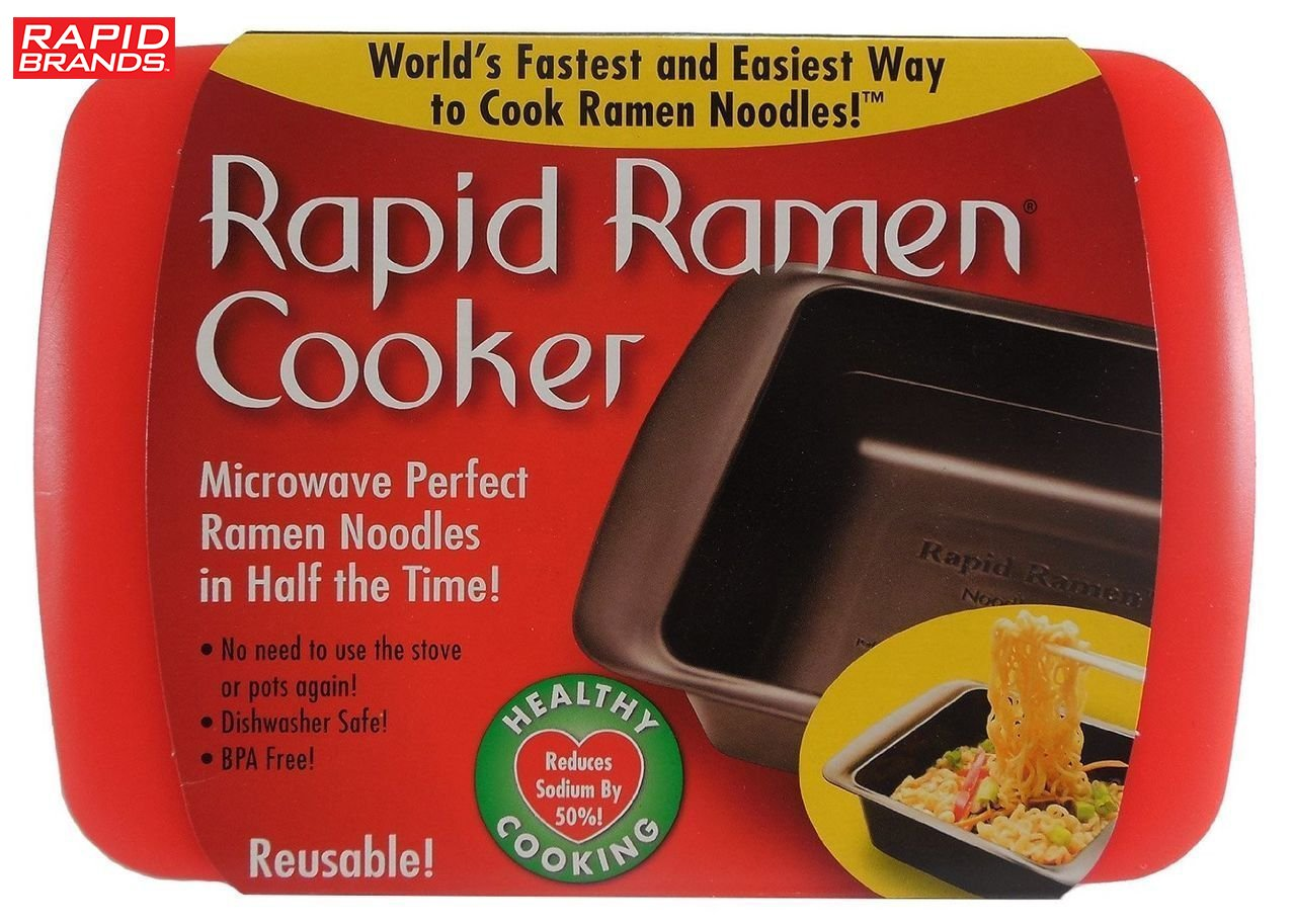 Rapid Brands Rapid Ramen Cooker-Microwave Ramen in 3 Minutes-BPA Free and Dishwasher Safe-Black TV205433