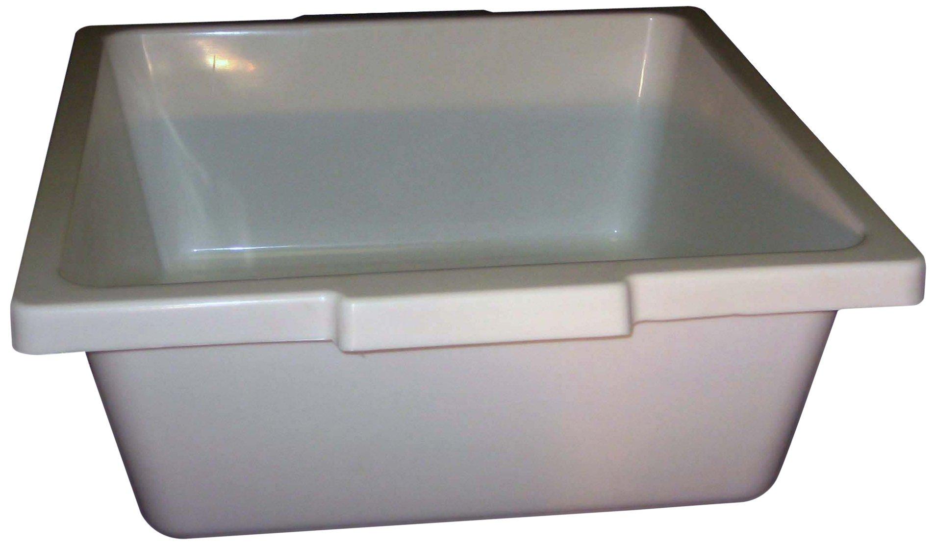 PSC 1007178 General Purpose Trays, Autoclavable, Polypropylene, 15'' x 14'' x 5'', White