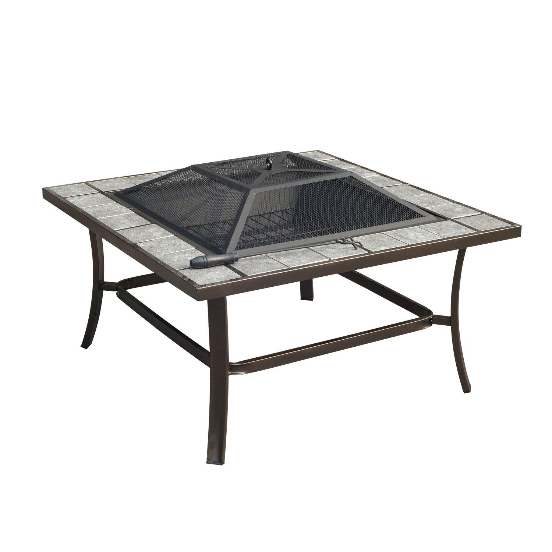 Amazon.com: Outsunny Square Outdoor Backyard Patio Firepit Table, 36 Inch:  Garden U0026 Outdoor