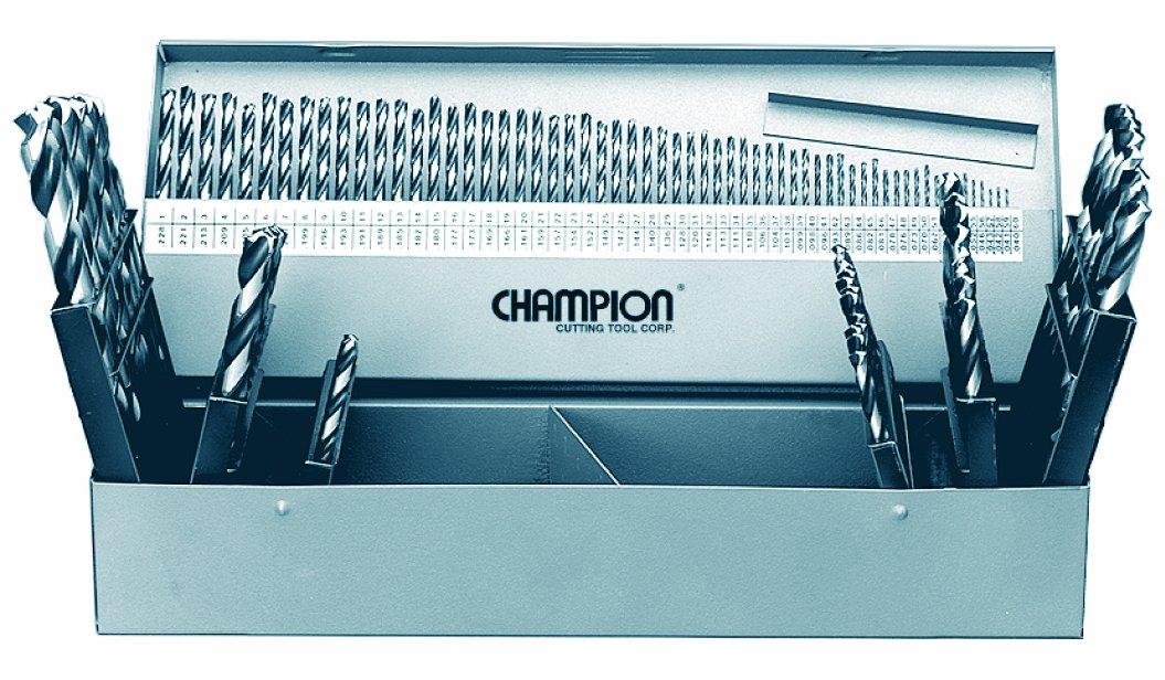 Champion Cutting Tool SS-150CO 705C Cobalt HD Jobber 135 Degree Split Point Twist Drill Set, 115-Piece
