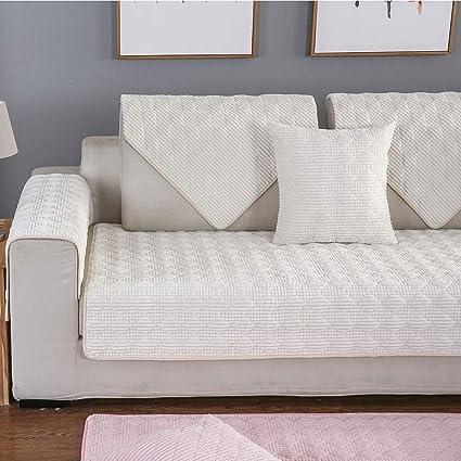 YLCJ Funda de sofá de Tres plazas con sofá de la península ...