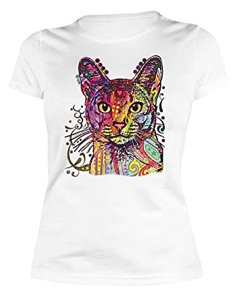 Lady Shirt Neon Katze Shirt 4 Heroines Girlie T-Shirt Geburtstag Geschenk  geil bedruckt: Amazon.de: Bekleidung