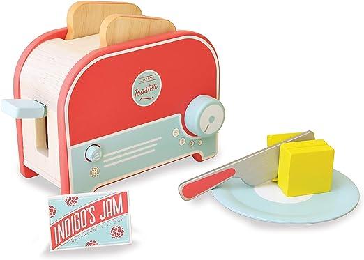 Indigo Jamm- Jamm Tostadora de Juguete de Madera con Pan y Mantequilla, Juego de Alimentos y Accesorios de Cocina (KIJ10063): Amazon.es: Juguetes y juegos