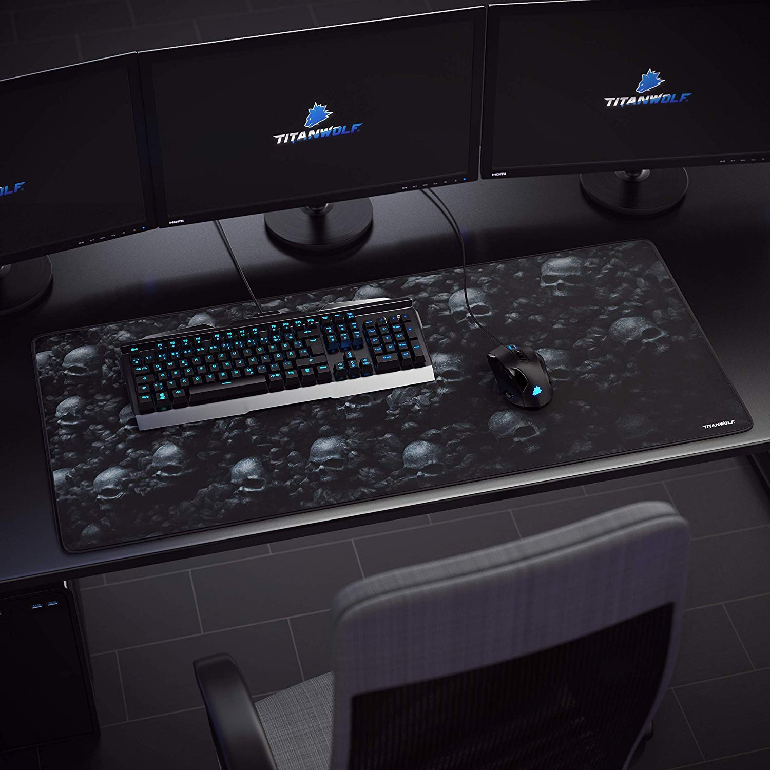 titanwolf 900x400  Titanwolf - Tappetino per Mouse | XXL Gaming Mousepad/Mouse Pad 900 ...