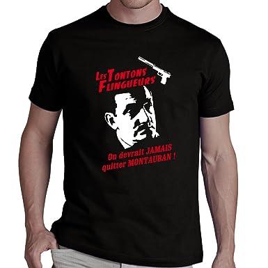 f7042437b953 Tee shirt TONTONS FLINGUEURS - On devrait jamais quitter Montauban   Amazon.fr  Vêtements et accessoires