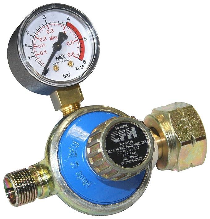 CFH Propanregler DR 115 mit Manometer 1-4 bar Druckminderer Regler Gasregler