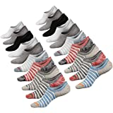 Toes Home Women No Show Socks Sport Low Cut Cotton Non Slip Sneaker Socks Pack of 3 to 6